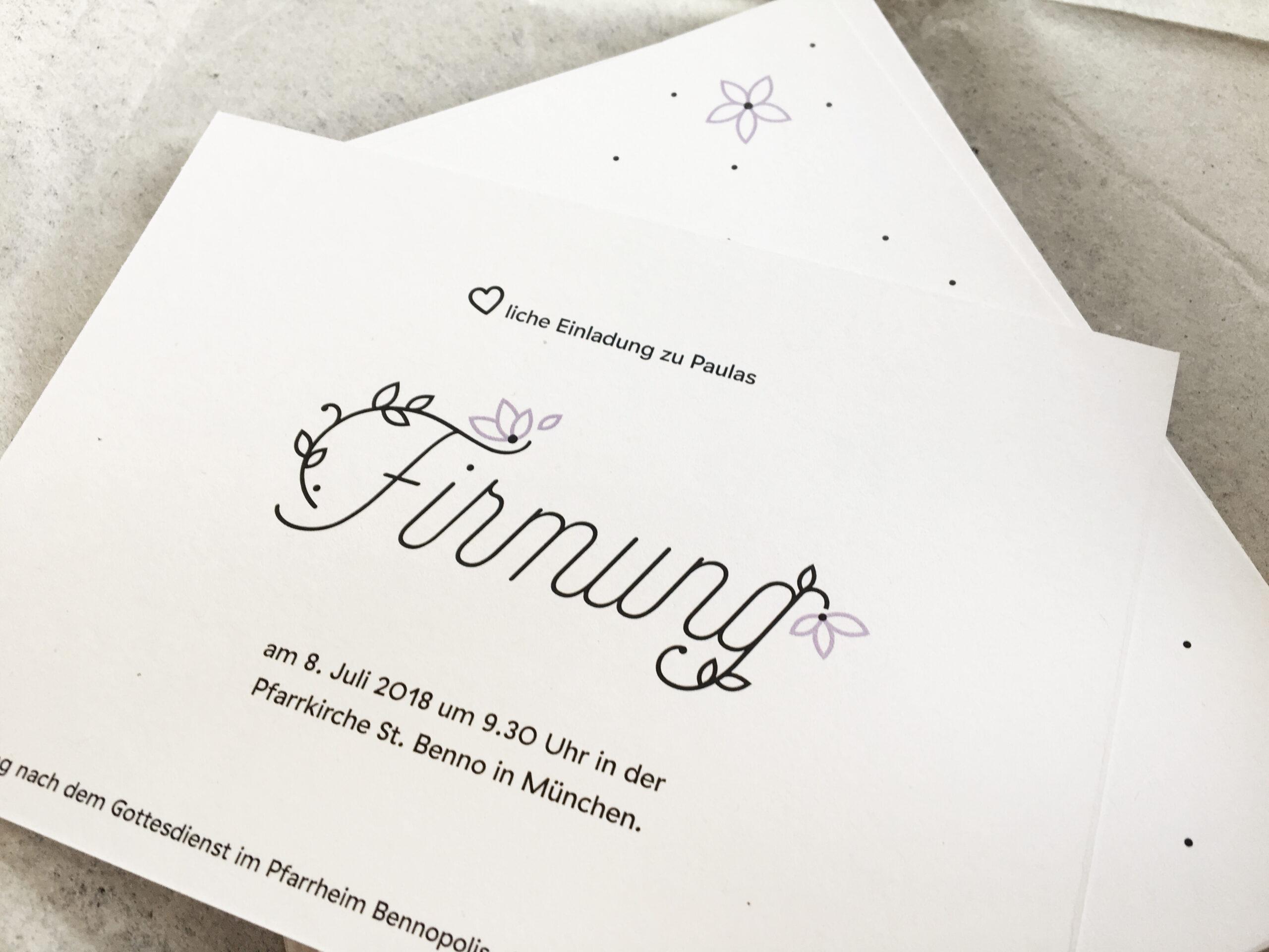 Einladungskarten Firmung